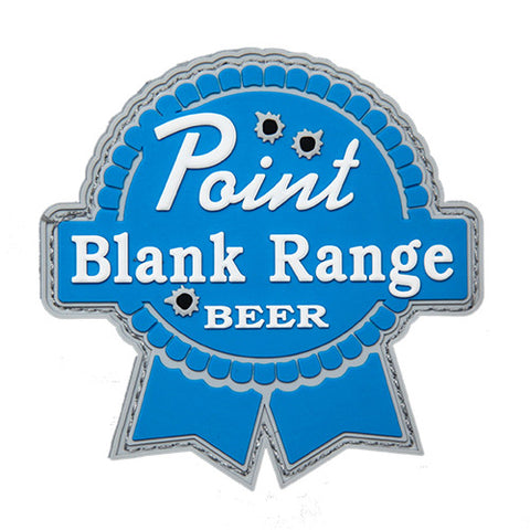 PBR Patch Point Blank Range-Tactical-Retirement-Military-Police-Gift-Carry-Stand-Cart-Ping-Titleist-Morale Patch