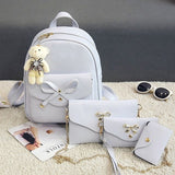 Luxury Women Four Sets Backpack Shoulder Bags Four