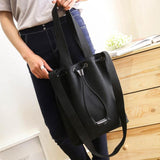 Canvas Messenger bags Solid Shopping Bag