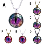 #6 Retro Cat's Eye Pendant Necklacel
