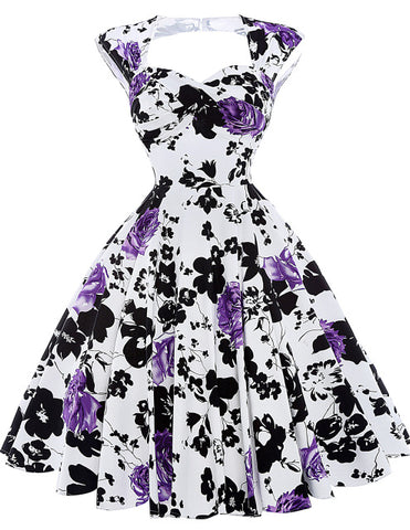 Elegant floral printed dress