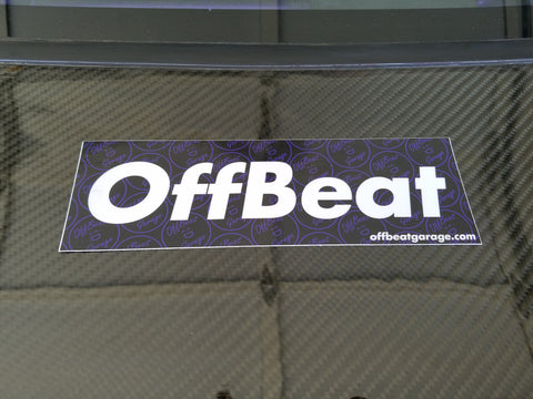 OffBeat Garage Bumper Sticker in Purple