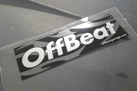 OffBeat Garage Bumper Sticker in Chrome