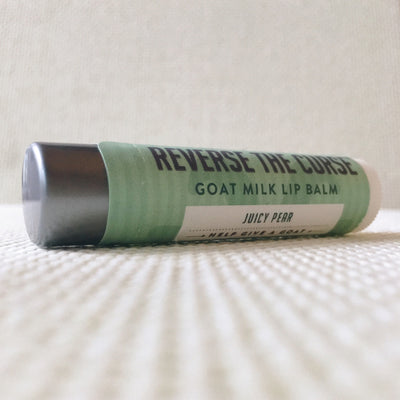 Set of All 6 Flavors of All Natural Reverse The Curse Goat Milk Lip Balm