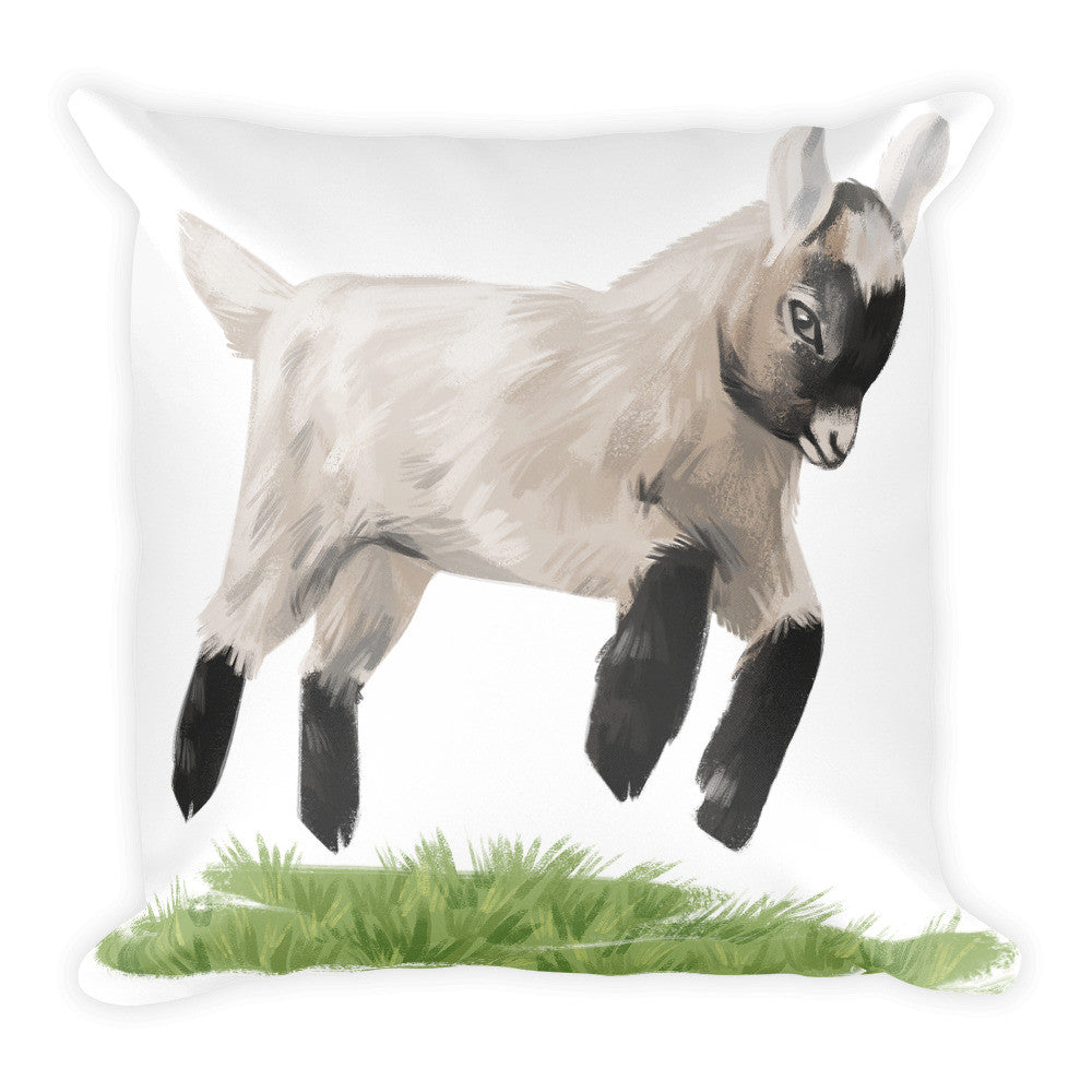 Jumping Baby Goat Pillow