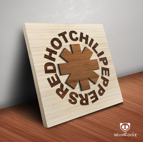 Red Hot Chili Peppers - Bamboo Wall Decor