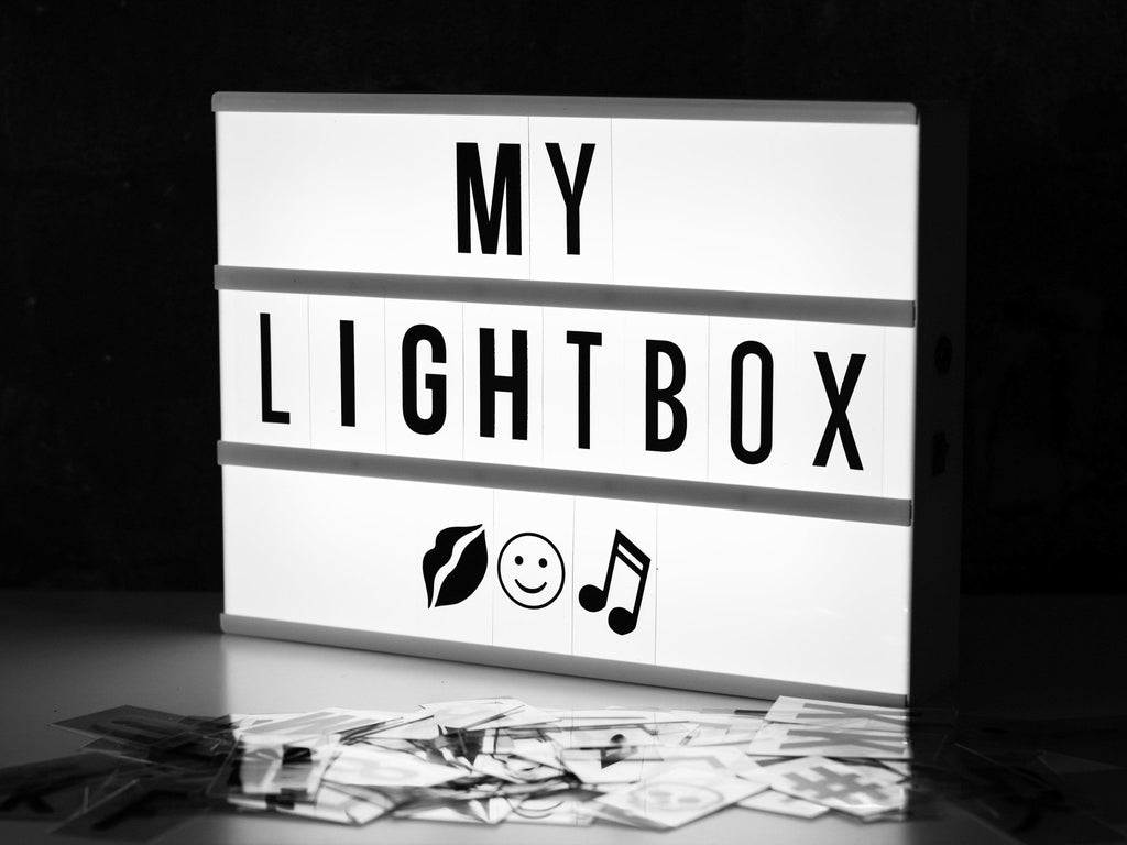 locomocean a4 light sign box black white uk delivery madisons and co