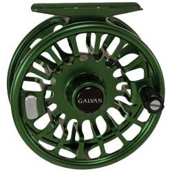 Galvan Torque Large Arbor Fly Reel  Colors : Green, Clear, Black, Blue and Burnt-Orange
