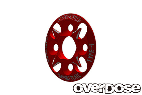 Overdose Spur gear adapter RED