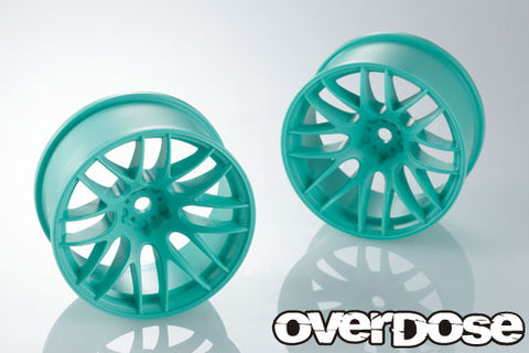 Overdose Work Emotion M8R teal offset 7+