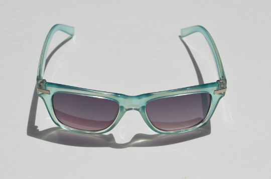 Round Sunglasses Summer Aqua Blue with Dark Lense main