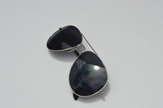 Aviator sunglasses in Silver vertical  view