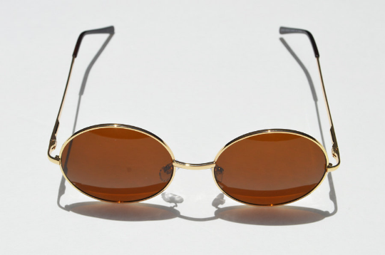 Round Janis Joplin 1970s Sunglasses main view