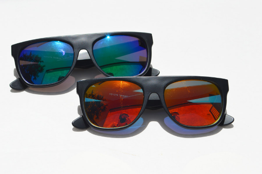 Round MATTE Sunglasses with Metallic Frames combo