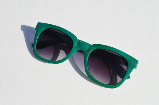 Wayfarer Green Sunglasses side 2 view