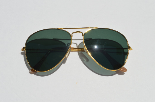 Aviator Sunglasses Dark lense front view
