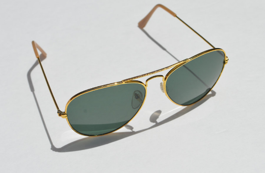 Aviator Sunglasses Dark lense normal view