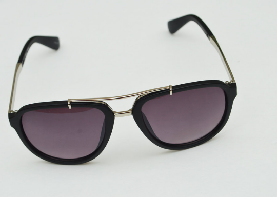 Aviator sunglasses in Matte round horizontal  view