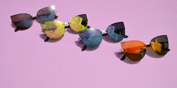 NEW Butterfly Lense Mirrored Metallic Summer Eyewear