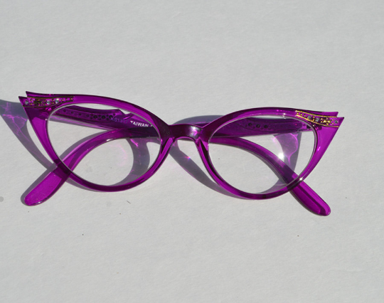 Cat eyes non prescription in purple main view