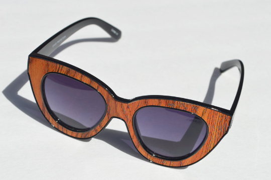 Cat eyes  sunglasses 3D POP ART wood shadow view