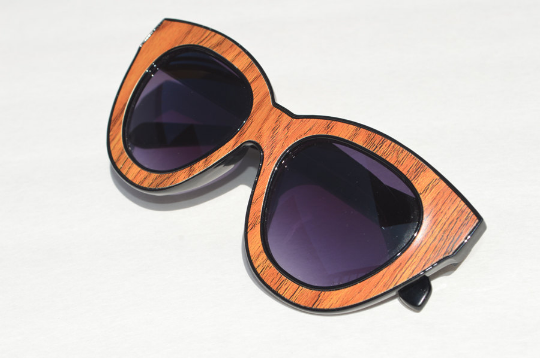 Cat eyes  sunglasses 3D POP ART wood main view