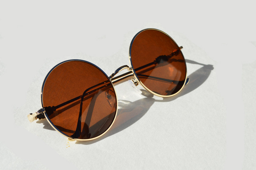 Round Metal frame Great Gatsby inspired Sunglasses