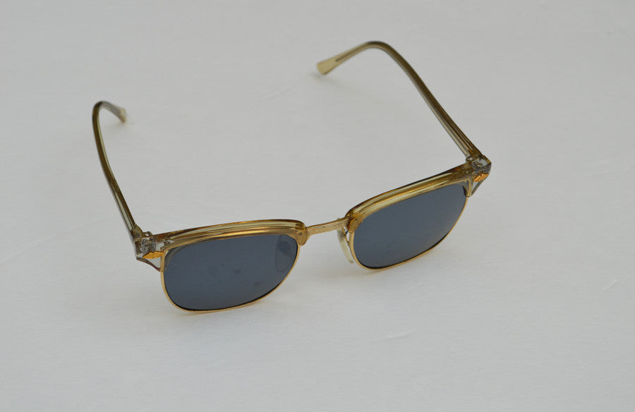 Deadstock Dark Frame Unisex Sunglasses With Gold Accents side