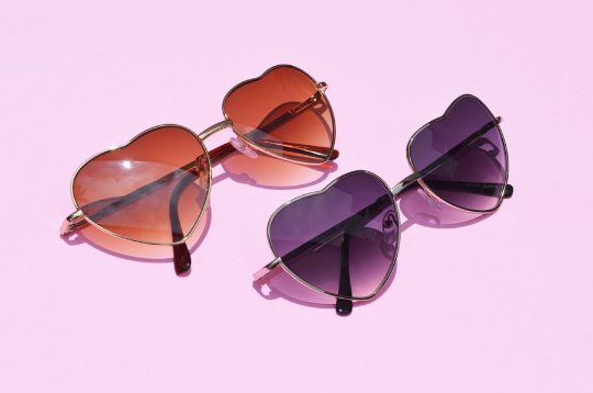 Heartshape Sunglasses in Metallic combo view