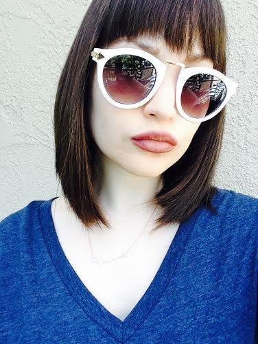 Helter Skelter Sunglasses in White head