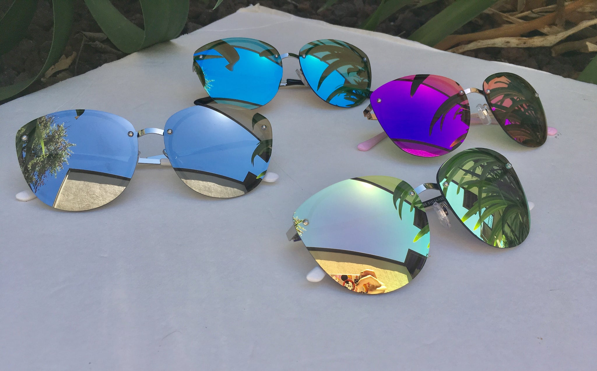 NEW Round Colorful Tinted Lenses Summer Eyewear