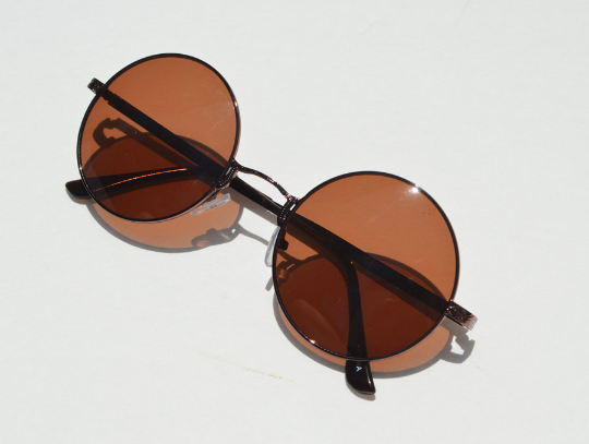 John Lennon sunglasses in round Bronze diagonal view
