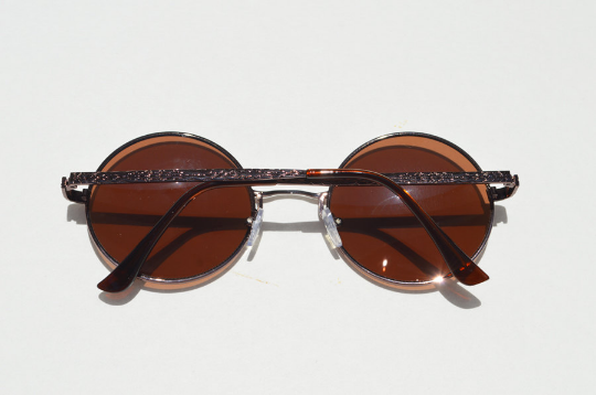 John Lennon sunglasses in round Bronze front view