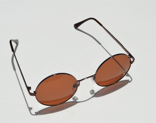 John Lennon sunglasses in round Bronze side view