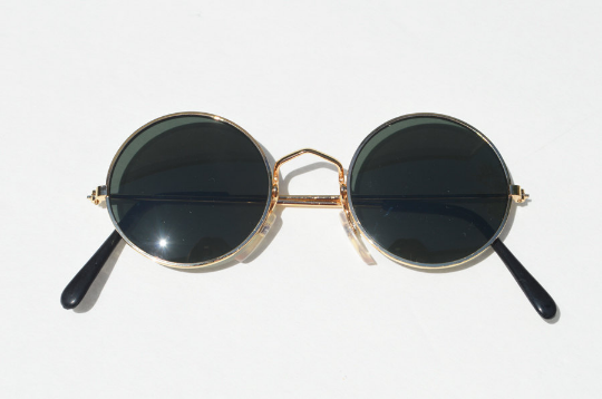 John Lennon sunglasses in round Gold front view