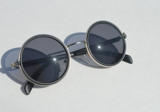 John Lennon sunglasses in round Matte side view