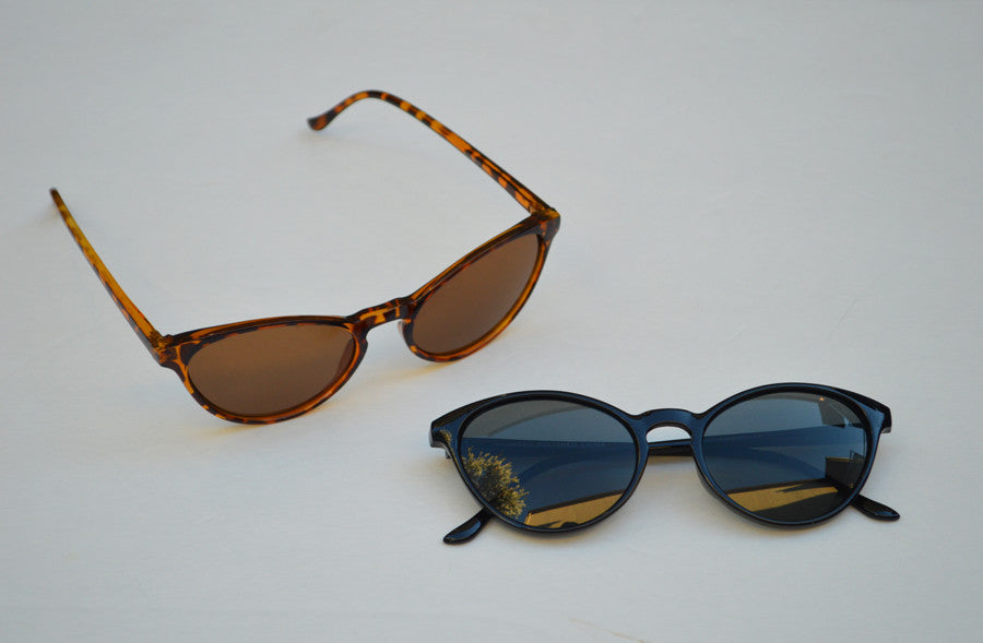 Cateyes Round Sunglasses Old Hollywood Style front
