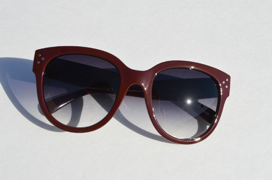 Oversized Sunglasses Dark Brown Round front view