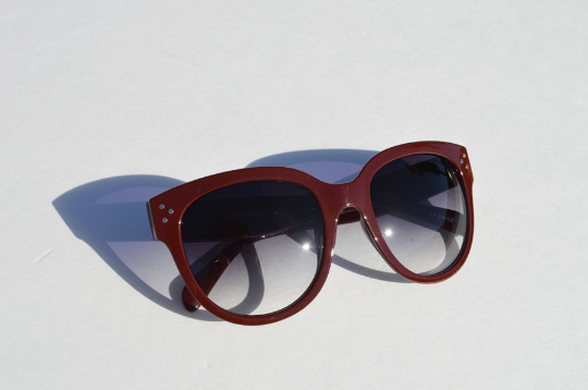 Oversized Sunglasses Dark Brown Round main view