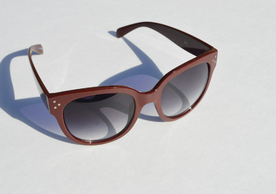 Oversized Sunglasses Dark Brown Round shadow view