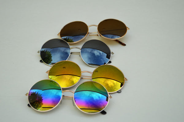 John Lennon Round Unisex Sunglasses In Rainbow main