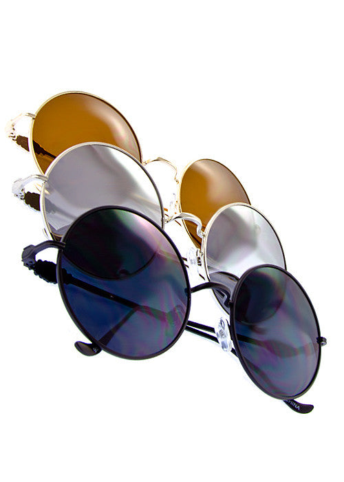 Round Metal frame Great Gatsby inspired Sunglasses Combo