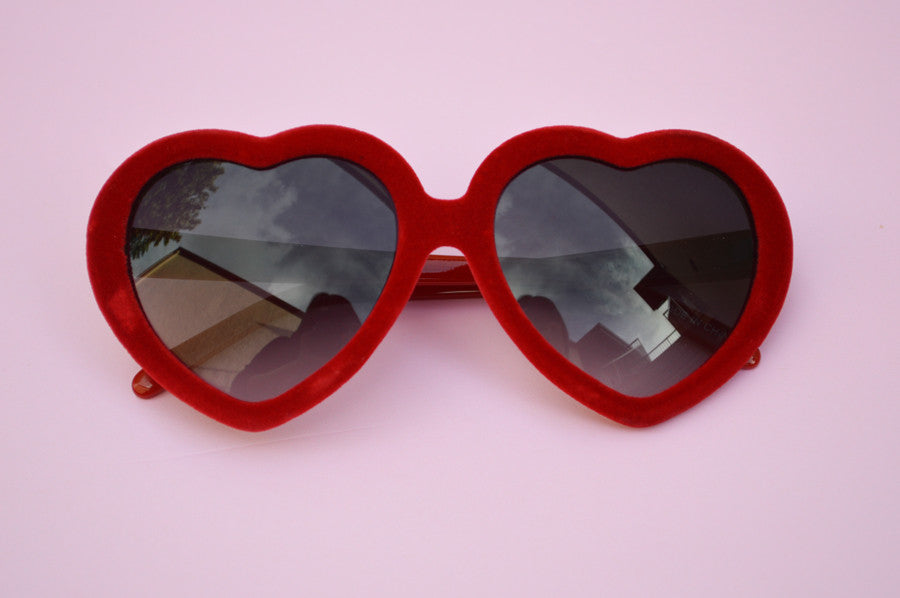 Heartshape RED VELVET Classic Summer Kawaii Sunglasses