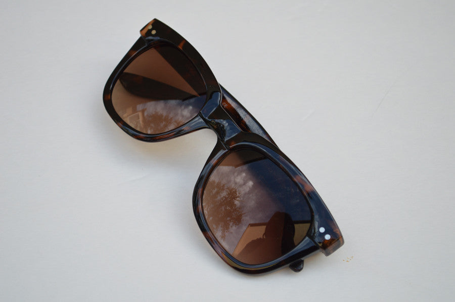 Wayfarer  Sunglasses Unisex  Brown Dark Lense c