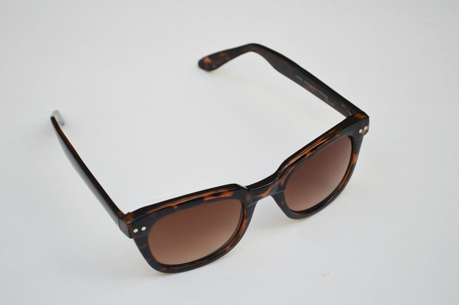 Wayfarer  Sunglasses Unisex  Brown Dark Lense dia