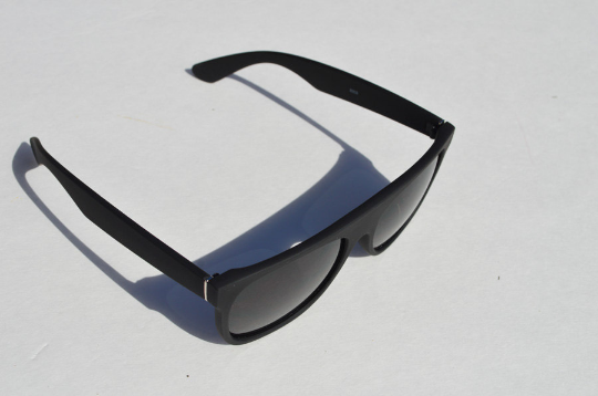 Wayfarer Matte Sunglasses in black shadow view