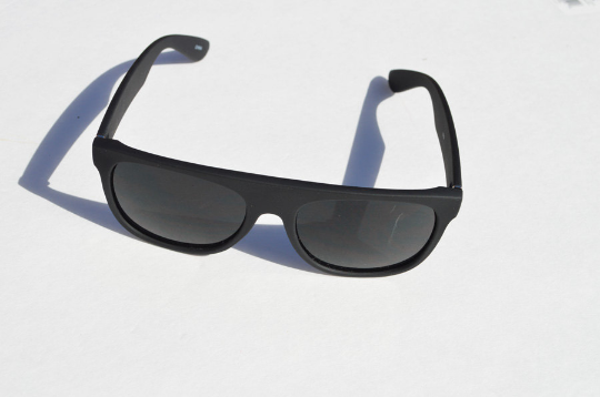Wayfarer Matte Sunglasses in black front view