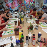 STUDIO PAINTING PARTY - Flower Bomb Canvases - FRI 14 SEP, 6-9pm