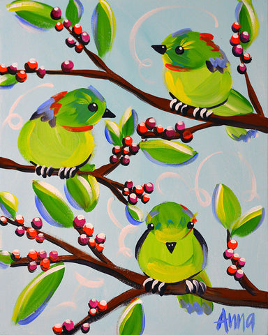 Studio Paint Along - Cheeky Green Birds (for Pittsworth Group)