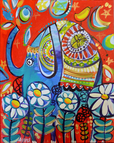 Online Paint Along - Elephant